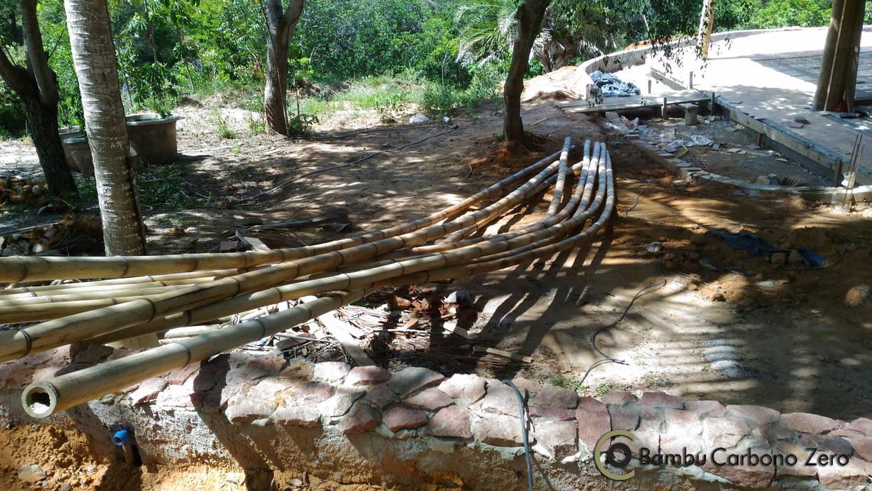 Bambus BAMBU CARBONO ZERO Jardins rústicos Bambu Efeito de madeira