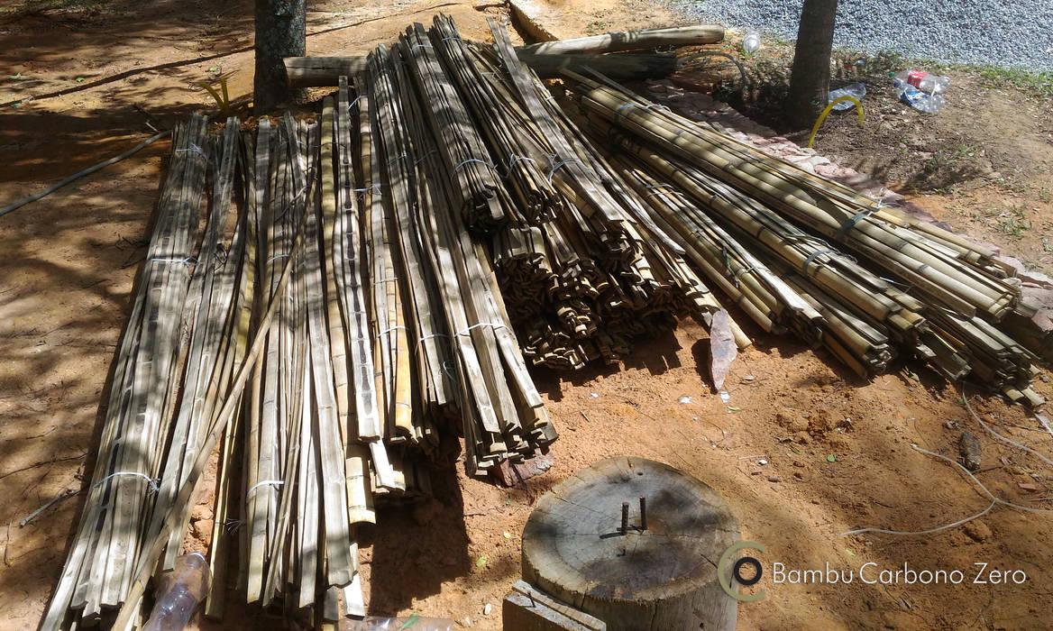 BAMBU CARBONO ZERO Giardino in stile rustico Bambù Effetto legno