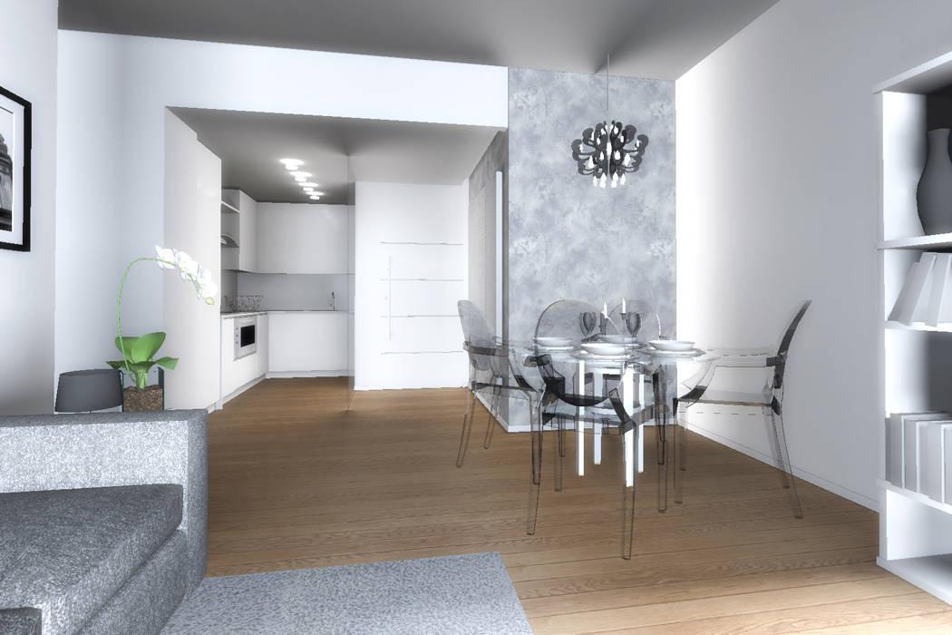 Casa e - progettazione soggiorno con cucina a vista: soggiorno in ...