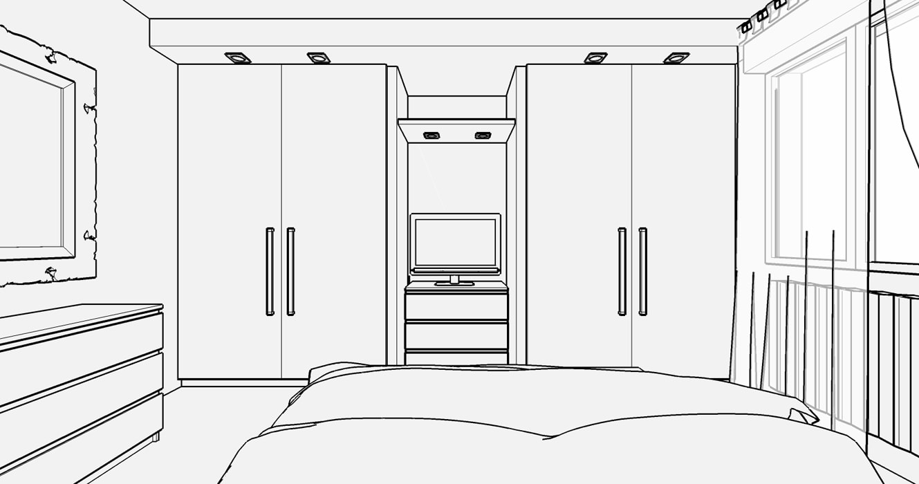 Casa s - progetto camera matrimoniale: camera da letto in ...