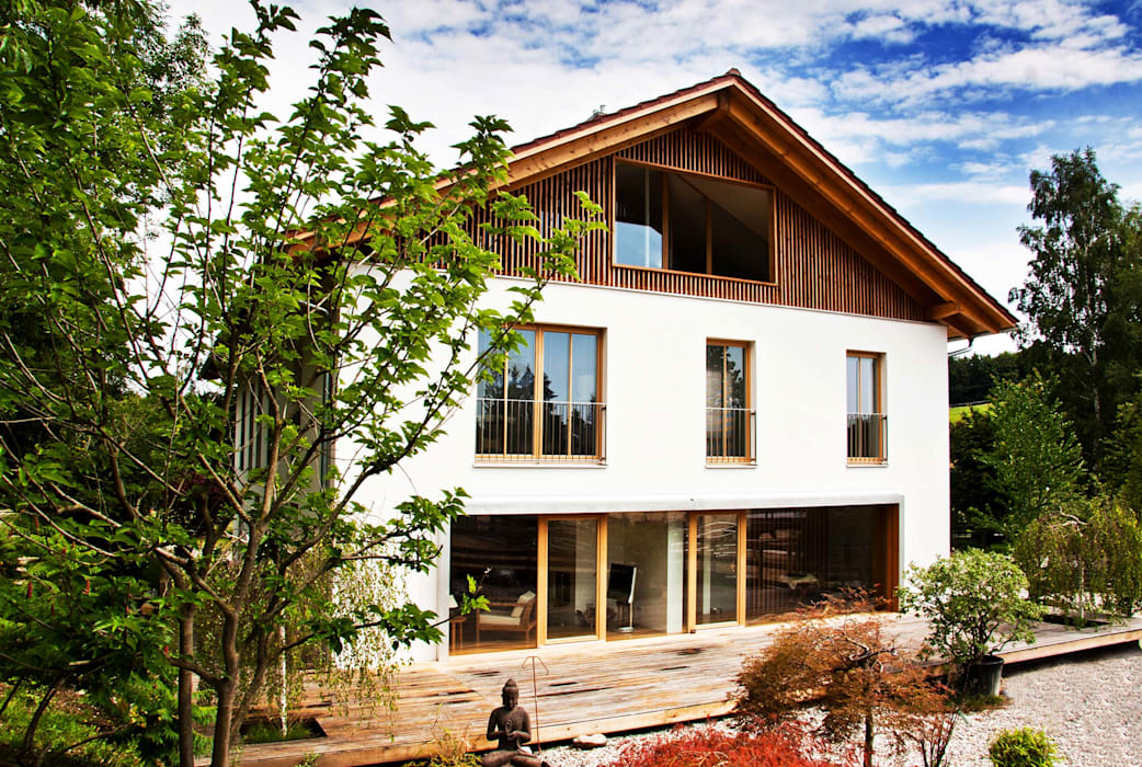 WSM ARCHITEKTEN Country style house Wood Brown