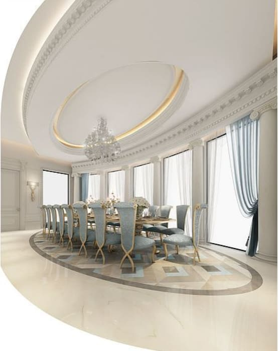 Fascinating Formal Dining Room Design Colonial style dining room by IONS DESIGN Colonial Marble