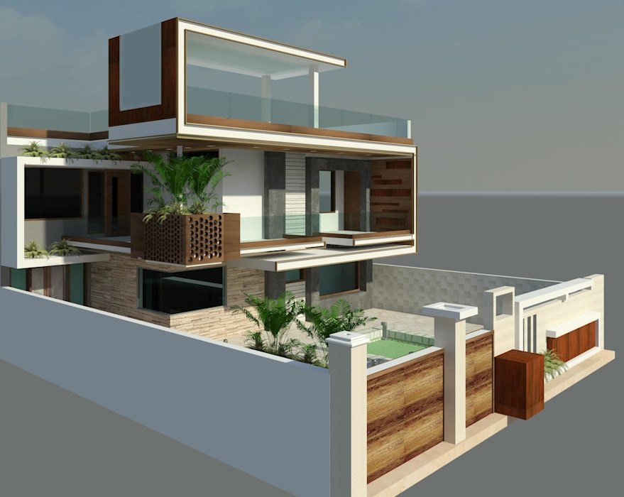 Modern contemporary Modern houses by EdgeHomes Architects Modern Engineered Wood Transparent