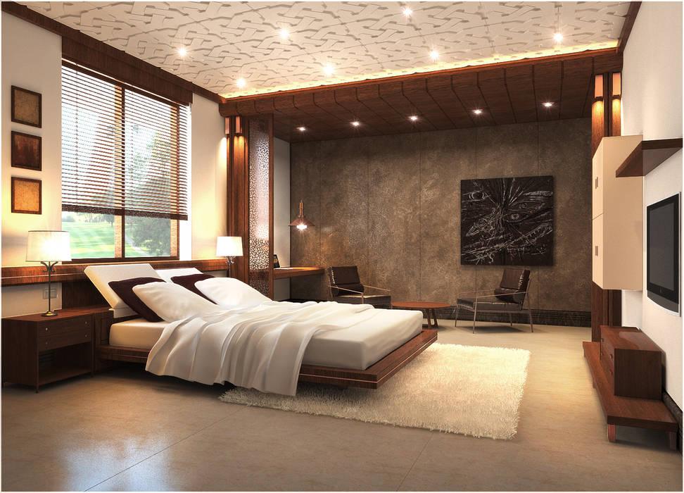 Master Bedroom:  Bedroom by Chaukor Studio