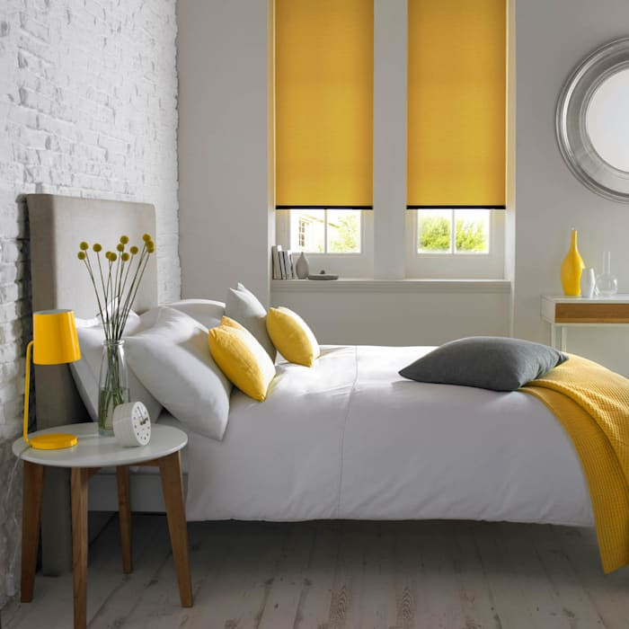Otto Turmeric Roller Blind Modern style bedroom by Appeal Home Shading Modern