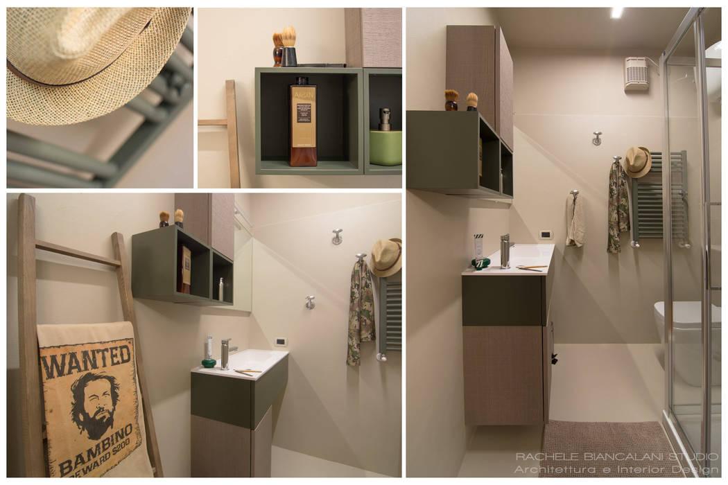 BUDROOM - Un bagno per uomini veri: Bagno in stile in stile Minimalista di Rachele Biancalani Studio