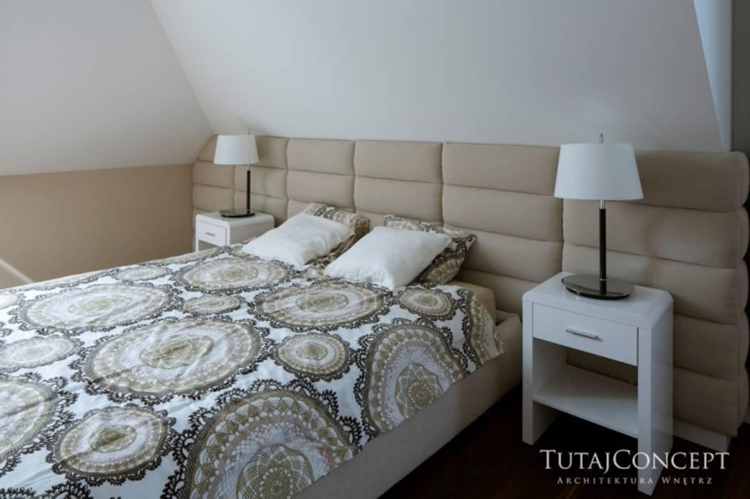 Realizacja - USTANÓW Nowoczesna sypialnia od TutajConcept Nowoczesny