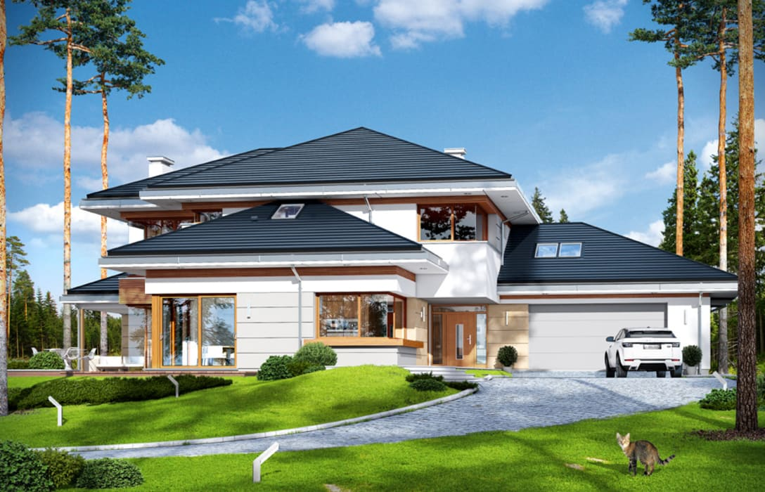 Dom z widokiem Дома в стиле модерн от MG Projekt Projekty Domów Модерн