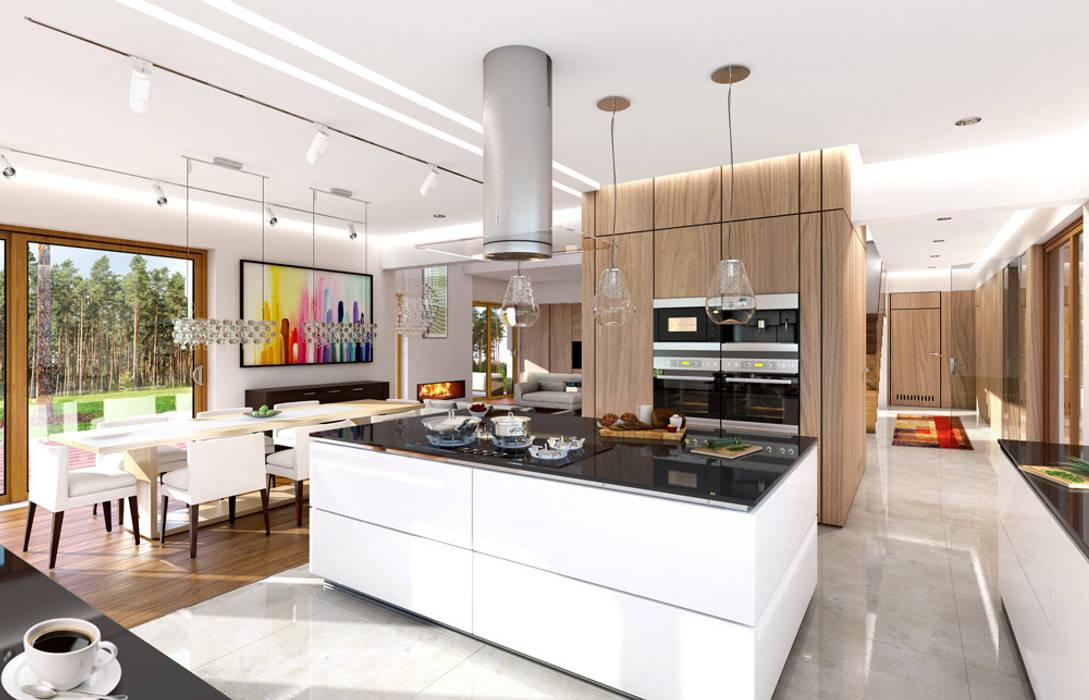 Dom z widokiem MG Projekt Projekty Domów Livings de estilo moderno