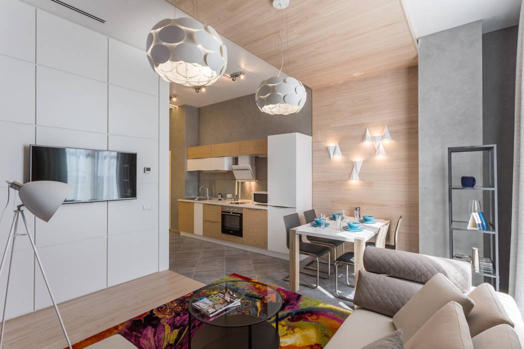 Проект квартиры в современном стиле Гостиная в стиле модерн от Bellarte interior studio Модерн