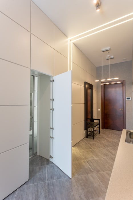 Bellarte interior studio Modern corridor, hallway & stairs