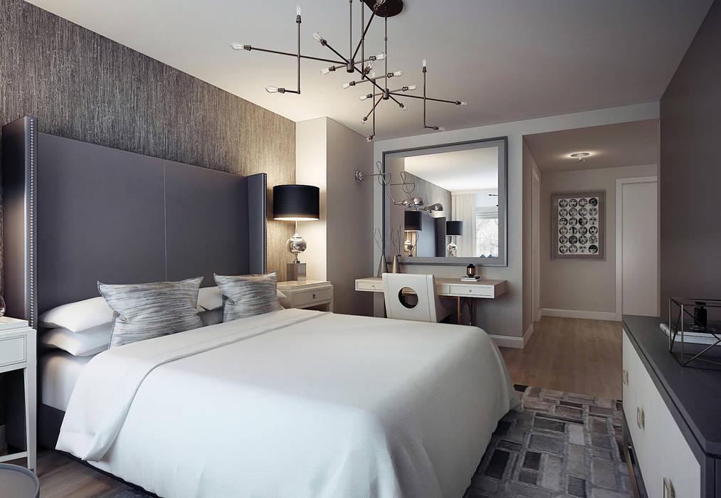 Master bedroom: Спальни в . Автор – KAPRANDESIGN, Эклектичный Дерево Эффект древесины