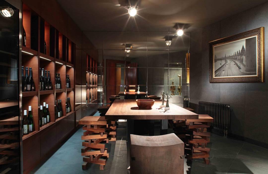 Дом в Подмосковье Винный погреб в стиле минимализм от Галерея Фрейман Минимализм