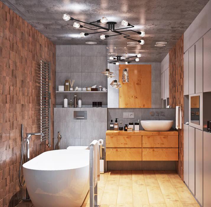 Душевая и ванная комнаты класса люкс: Ванные комнаты в . Автор – Студия дизайна Interior Design IDEAS, Лофт