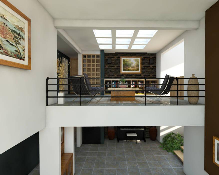Doble Altura: Pasillos y recibidores de estilo  por Arqternativa