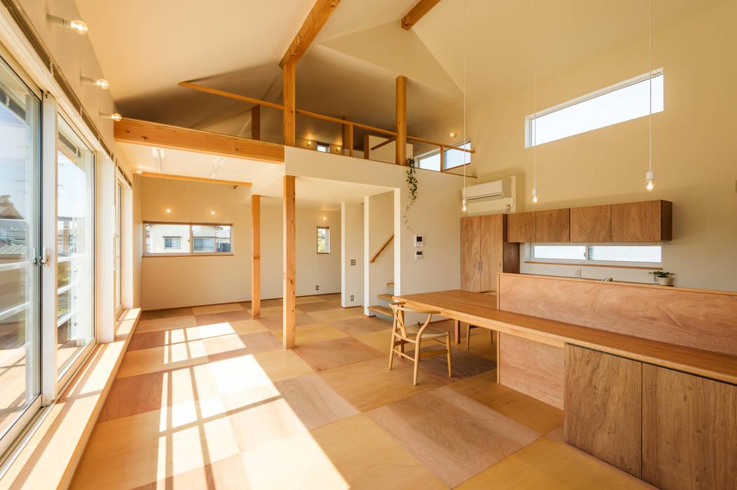 2階はワンルーム オリジナルデザインの ダイニング の エヌ スケッチ オリジナル