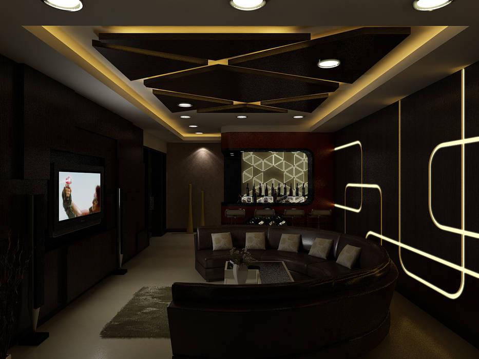 Salas multimedia de estilo moderno de The Brick Studio Moderno