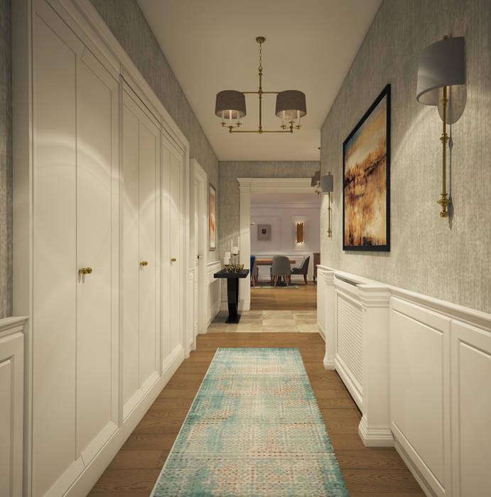 yücel partners Modern corridor, hallway & stairs