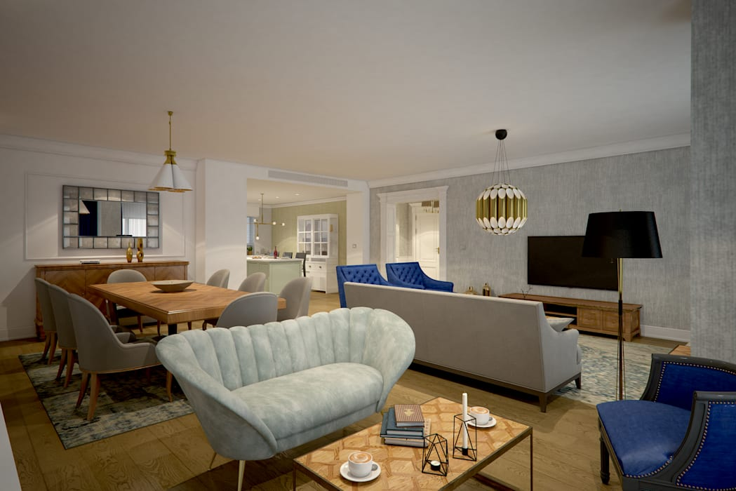 Modern Living Room by yücel partners Modern