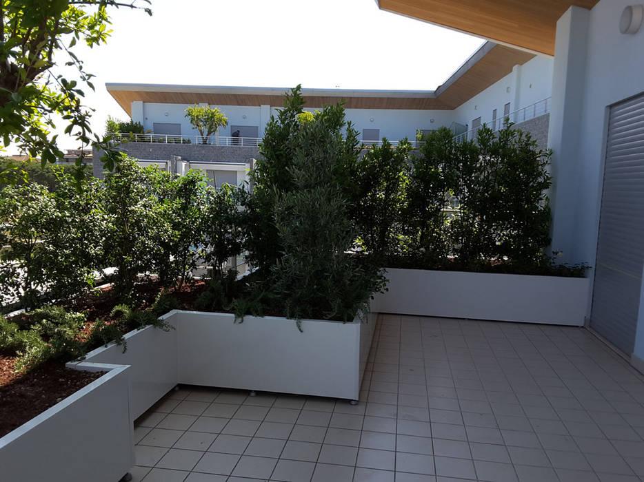 Nuova tecnologia per fioriere verde pensile terrazza in for Piante per terrazzo