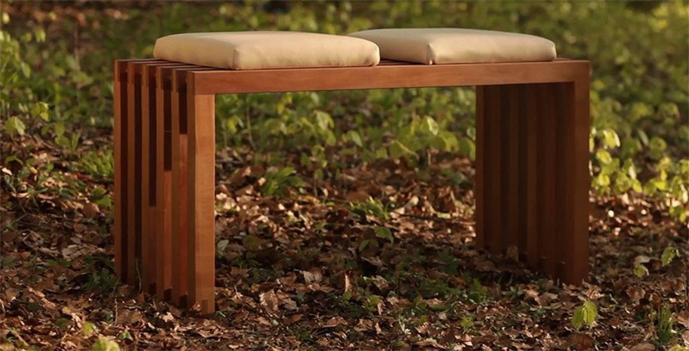 Sittingwood Design Naturleder Polsterauflage Walnuss Hellbeige