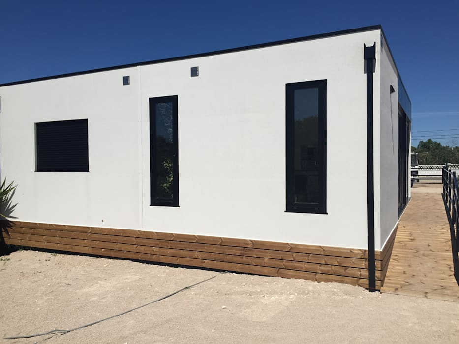 fachada casa modular Kitur Casas minimalistas por KITUR Minimalista
