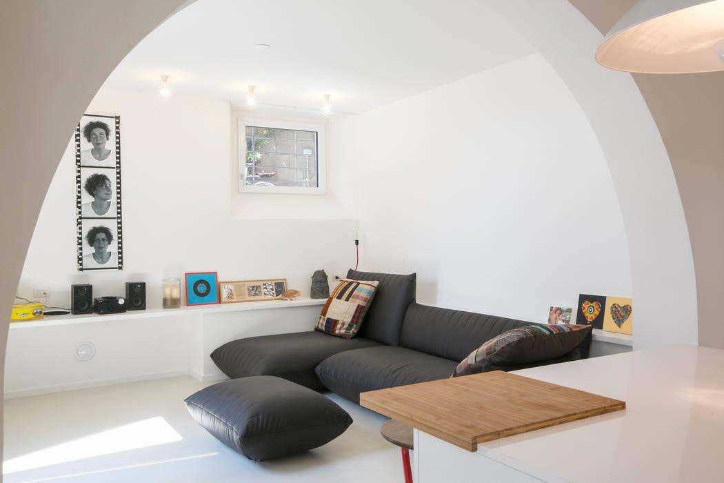 Гостиная в . Автор – mc2 architettura, Средиземноморский