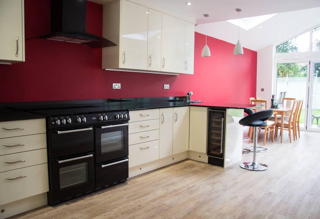 Customer M Kitchen Living Modern kitchen