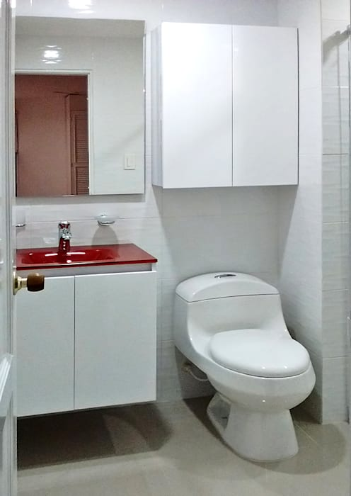 Baño principal Baños de estilo moderno de Remodelar Proyectos Integrales Moderno Cerámico