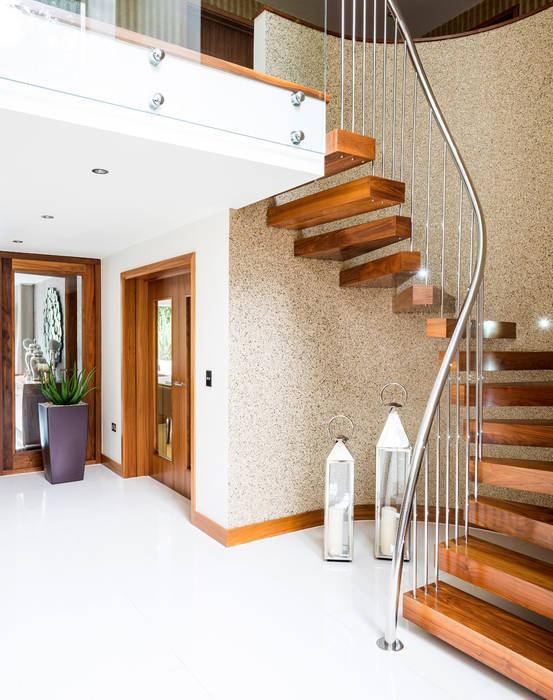 Bingham Avenue, Evening Hill, Poole Pasillos, vestíbulos y escaleras de estilo clásico de David James Architects & Partners Ltd Clásico