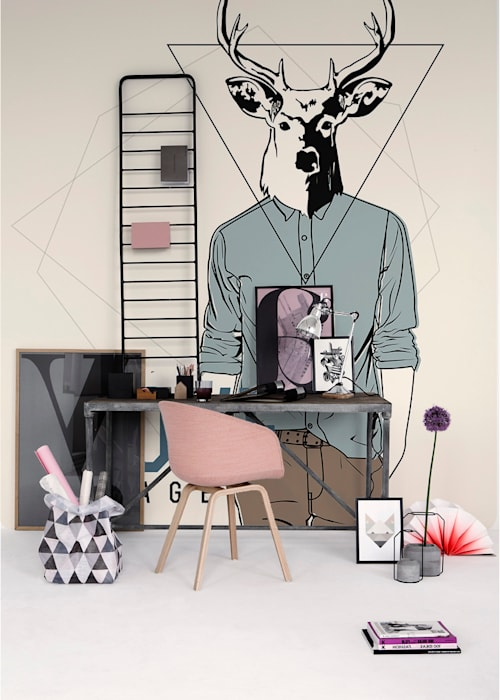 Hipster Deer Scandinavian style study/office by Pixers Scandinavian