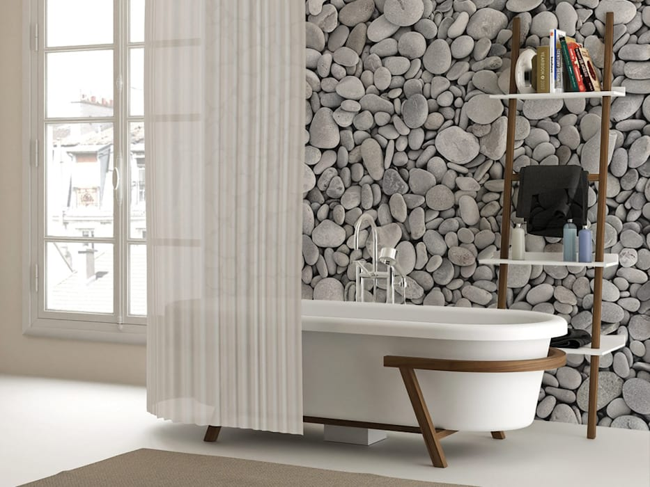 Pebbles Modern style bathrooms by Pixers Modern
