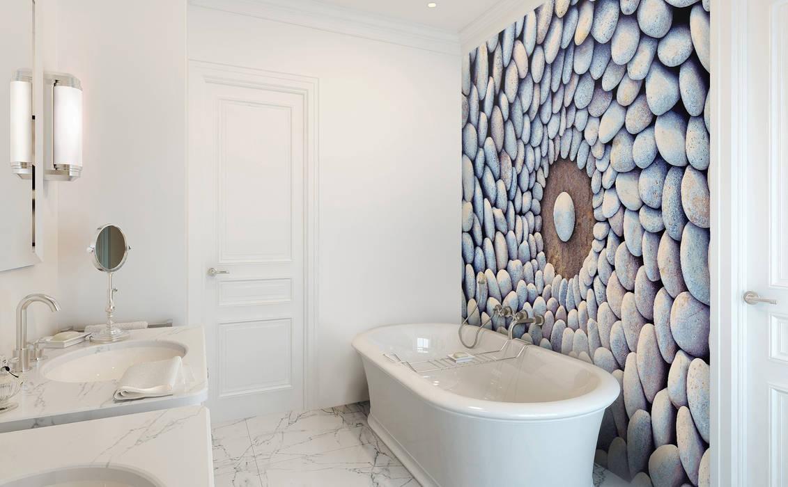 Stone Circles Modern Bathroom by Pixers Modern
