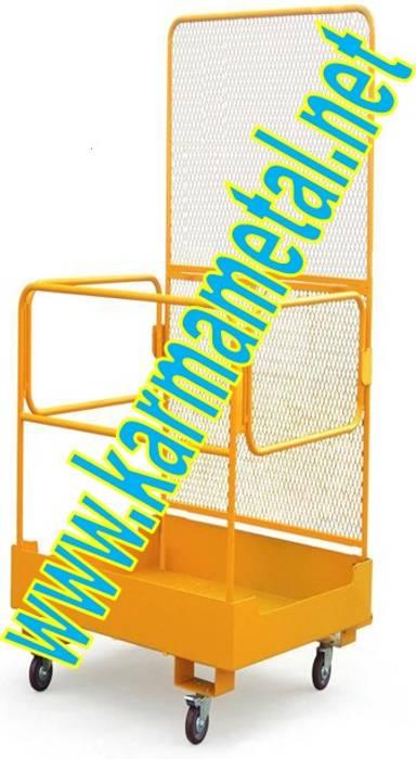 KARMA METAL-Forklift İnsan Personel Adam Taşıma Kaldırma Sepetleri KARMA METAL
