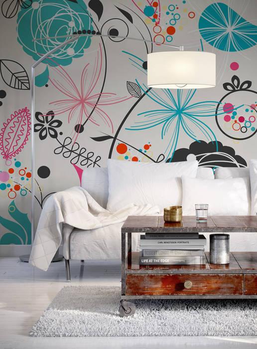 Colorful meadow Phòng khách phong cách chiết trung bởi Pixers Chiết trung