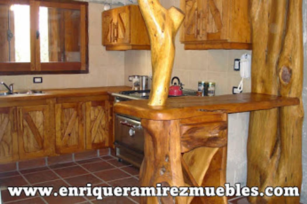 Cocina rustica de enrique ramirez muebles artesanales ...