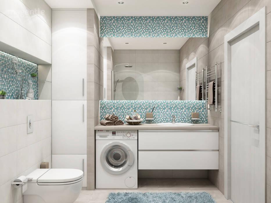 Minimalist style bathroom by MAGENTLE Minimalist Tiles
