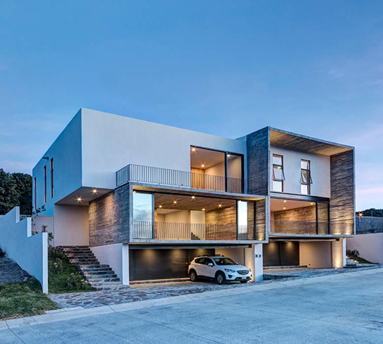 Minimalistische Häuser von La Desarrolladora Minimalistisch Stahlbeton