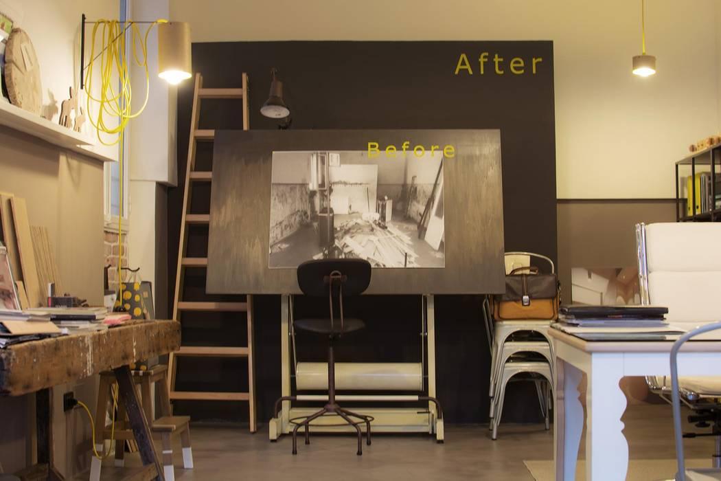PRIMA E DOPO nel dopo!: Complessi per uffici in stile  di Rachele Biancalani Studio