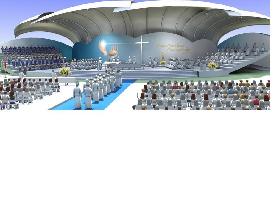 Altar Locais de eventos modernos por Zaida Amorim & Maria Luis, Lda Moderno Ferro/Aço