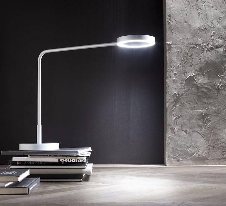 LAMPE DE BUREAU, META, BLANC, H48,5CM - LED - ZAVA: Bureaux de style  par NEDGIS