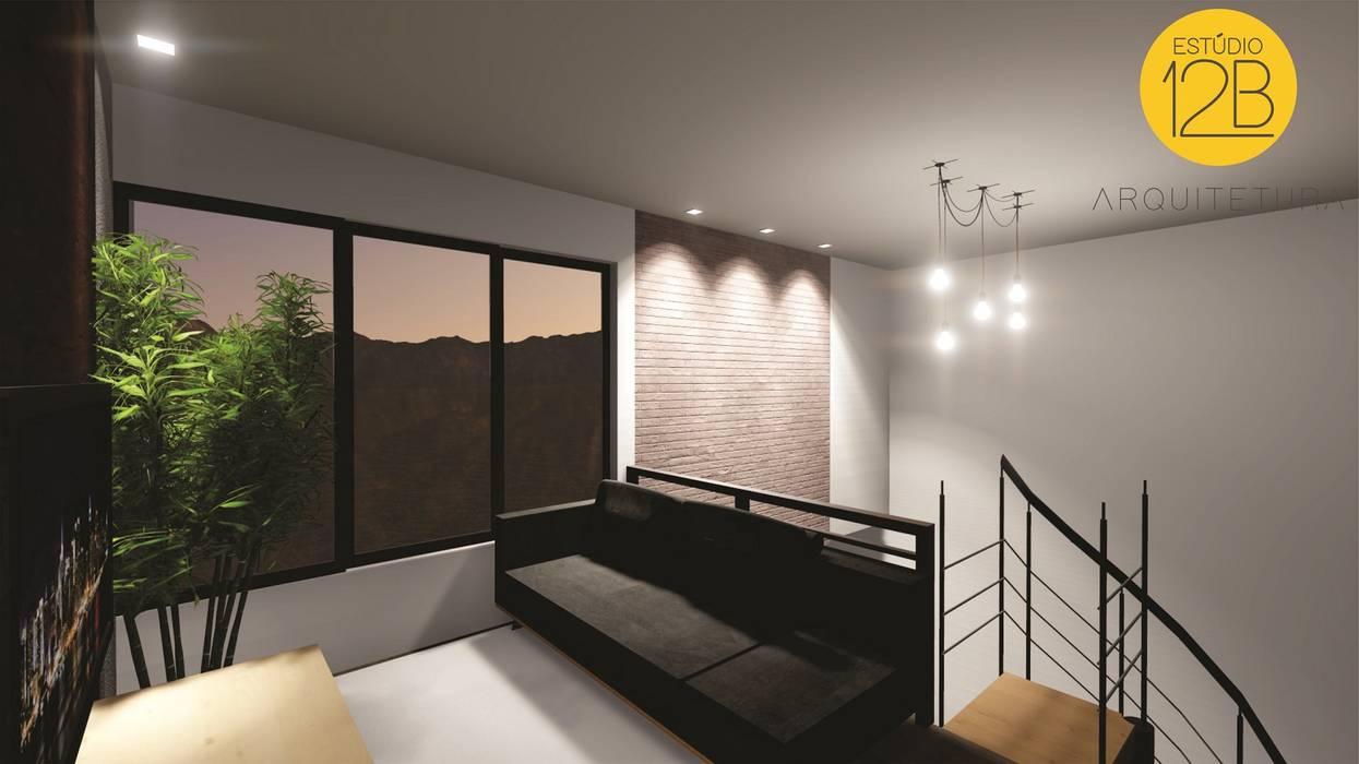 Mezanino Estúdio 12b Salas de estar modernas