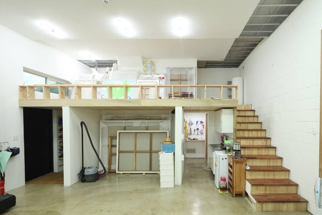 도곡리 주택 Modern Media Room by 위드하임 Modern