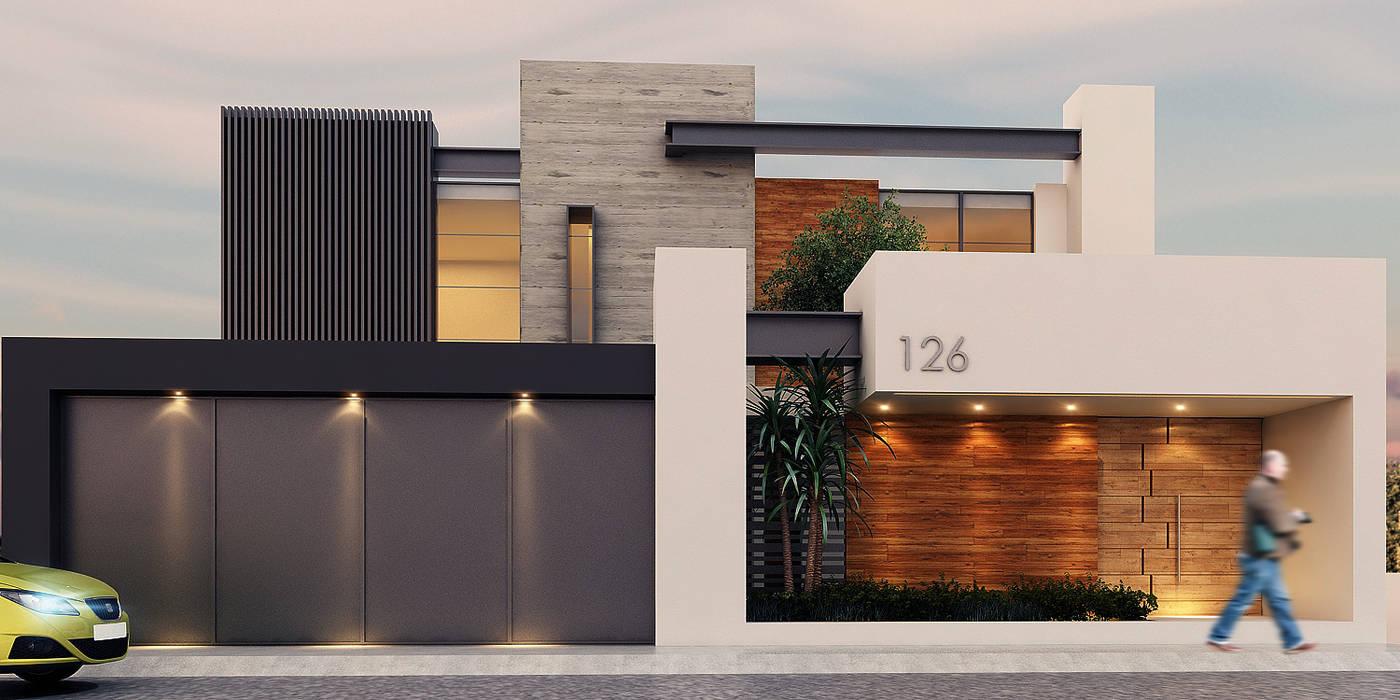 Fachada: Casas de estilo  por Besana Studio