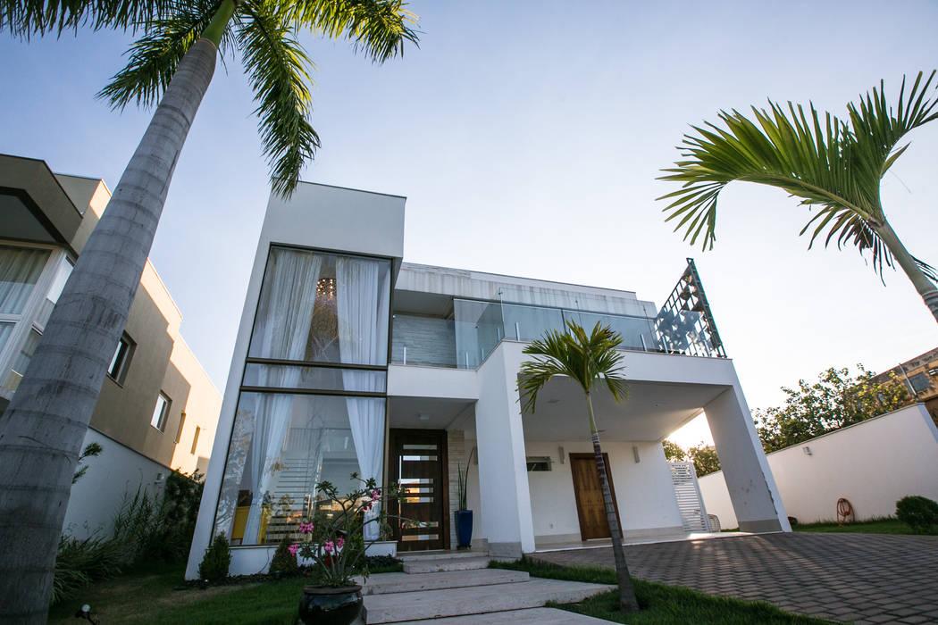 RES H|A - COND ALPHAVILLE CUIABÁ II Casas modernas por KAMPAI ARQUITETURA Moderno Vidro