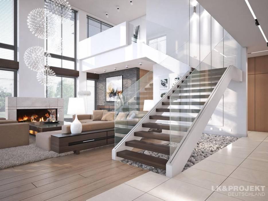 Couloir et hall d'entrée de style  par LK&Projekt GmbH,