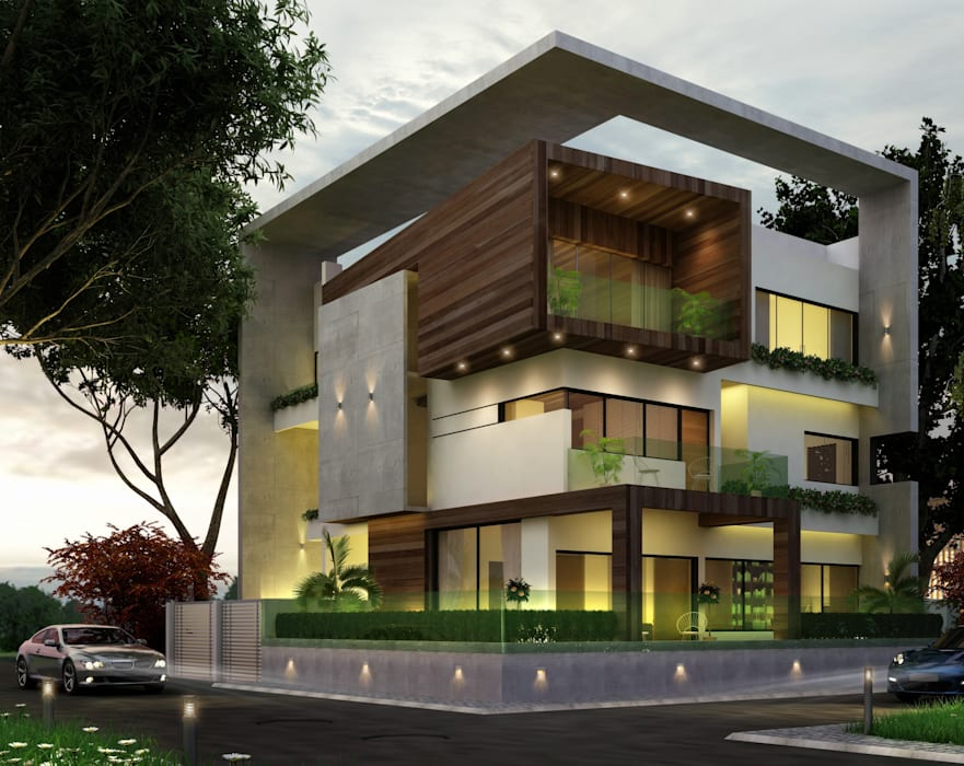 Residential Project :  Houses by agnihotri associates,Modern