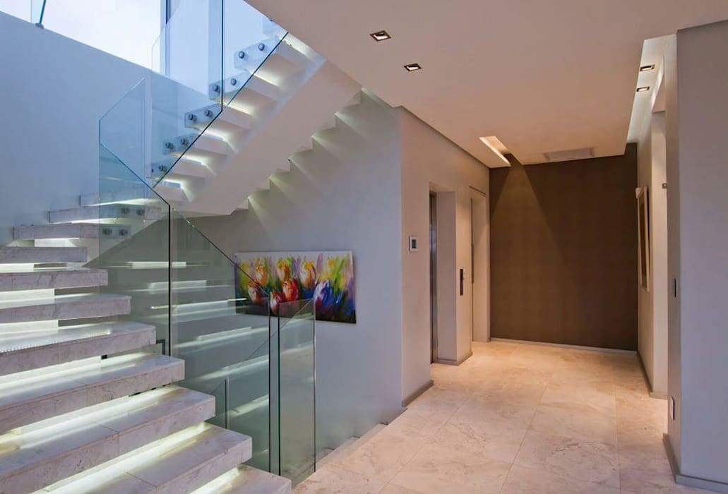 Incredible modern house in the heart of Ballito Modern Corridor, Hallway and Staircase by CA Architects Modern