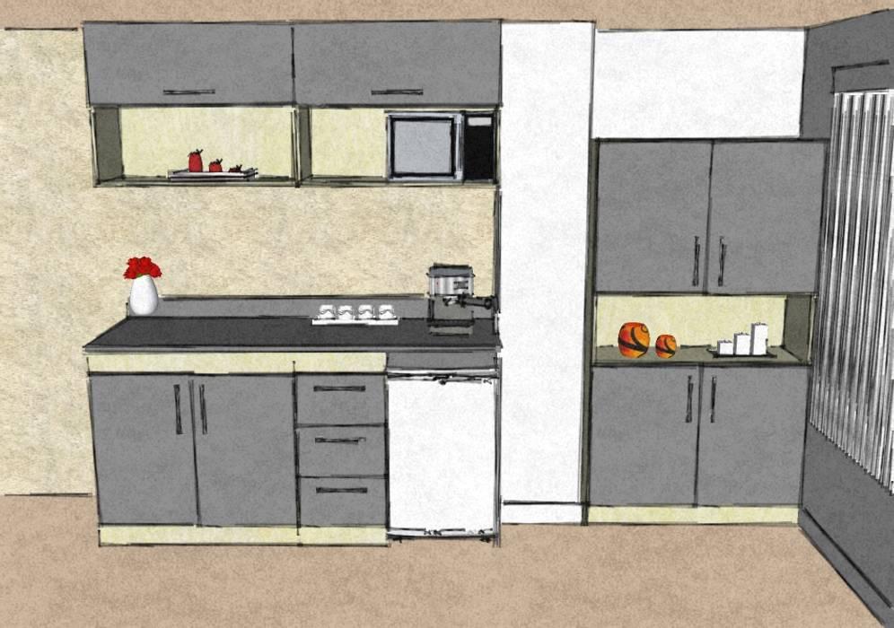 Kitchenette: Cocinas de estilo minimalista por Grupo Creativo DF, C.A.