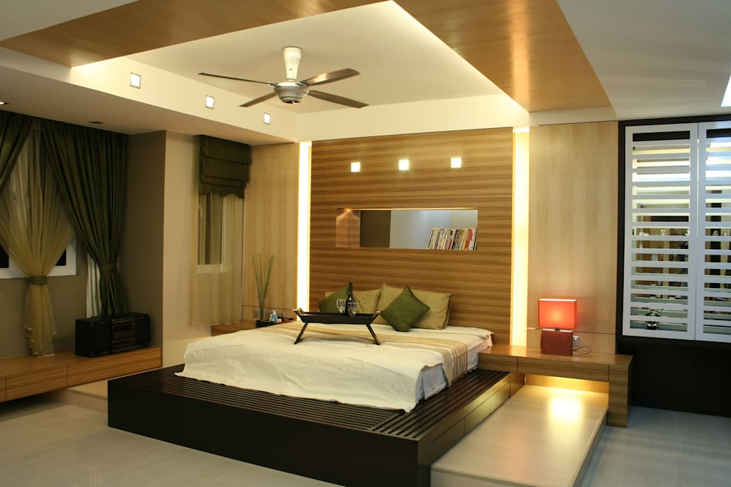 Tropical style bedroom by Design Spirits Tropical